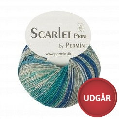 Scarlet Print 03 Blå/Turkis