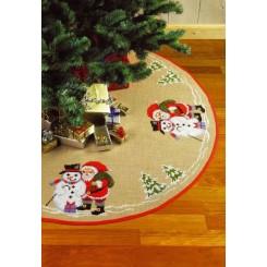 Juletræstæppe 45-1218  Ø 125 cm
