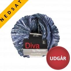 Diva 12 Uldmix Blå
