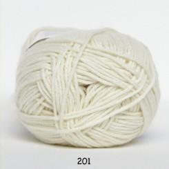 Hjertegarn Cotton nr. 8 fv.  201 Elfenbenshvid