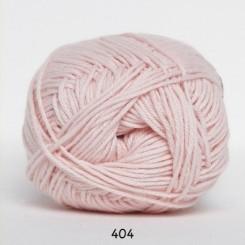 Hjertegarn Cotton nr. 8 fv.  404 Lyserød