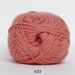 Hjertegarn Cotton nr. 8 fv.  433 Laks