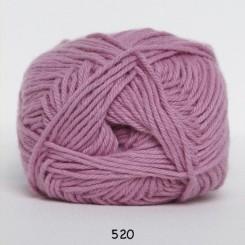 Hjertegarn Cotton nr. 8 fv.  520 lys Rosa