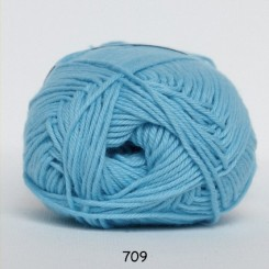 Hjertegarn Cotton nr. 8 fv.  709 Turkis