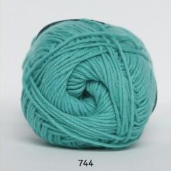 Hjertegarn Cotton nr. 8 fv.  744 Grøn