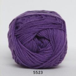 Hjertegarn Cotton nr. 8 fv. 5523 Mørk Lilla