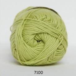 Hjertegarn Cotton nr. 8 fv. 7100 Lys Grøn
