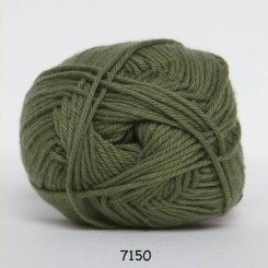 Hjertegarn Cotton nr. 8 fv. 7150 Army