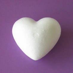 Styropor - Hjerte  9 cm