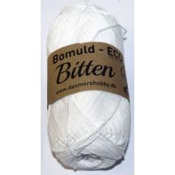 Bitten   9 Hvid ECO - 100% Økologisk bomuldsgarn