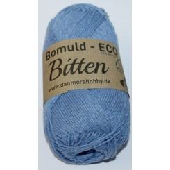Bitten  43 Støvet Blå ECO - 100% Økologisk bomuldsgarn