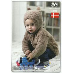 Ida pakning - Babytrøje med hætte