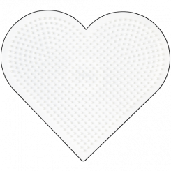 Nr. 233 HAMA Midi Stiftplade Stort Hjerte