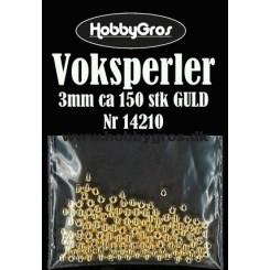 Voksperler Guld 3mm