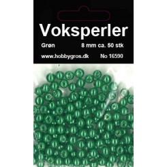 Voksperler Grøn 8 mm
