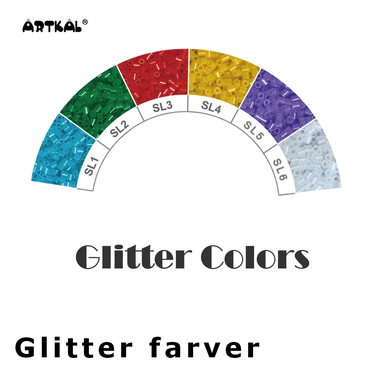 Artkal Midi-S Wheel Glitter Colors