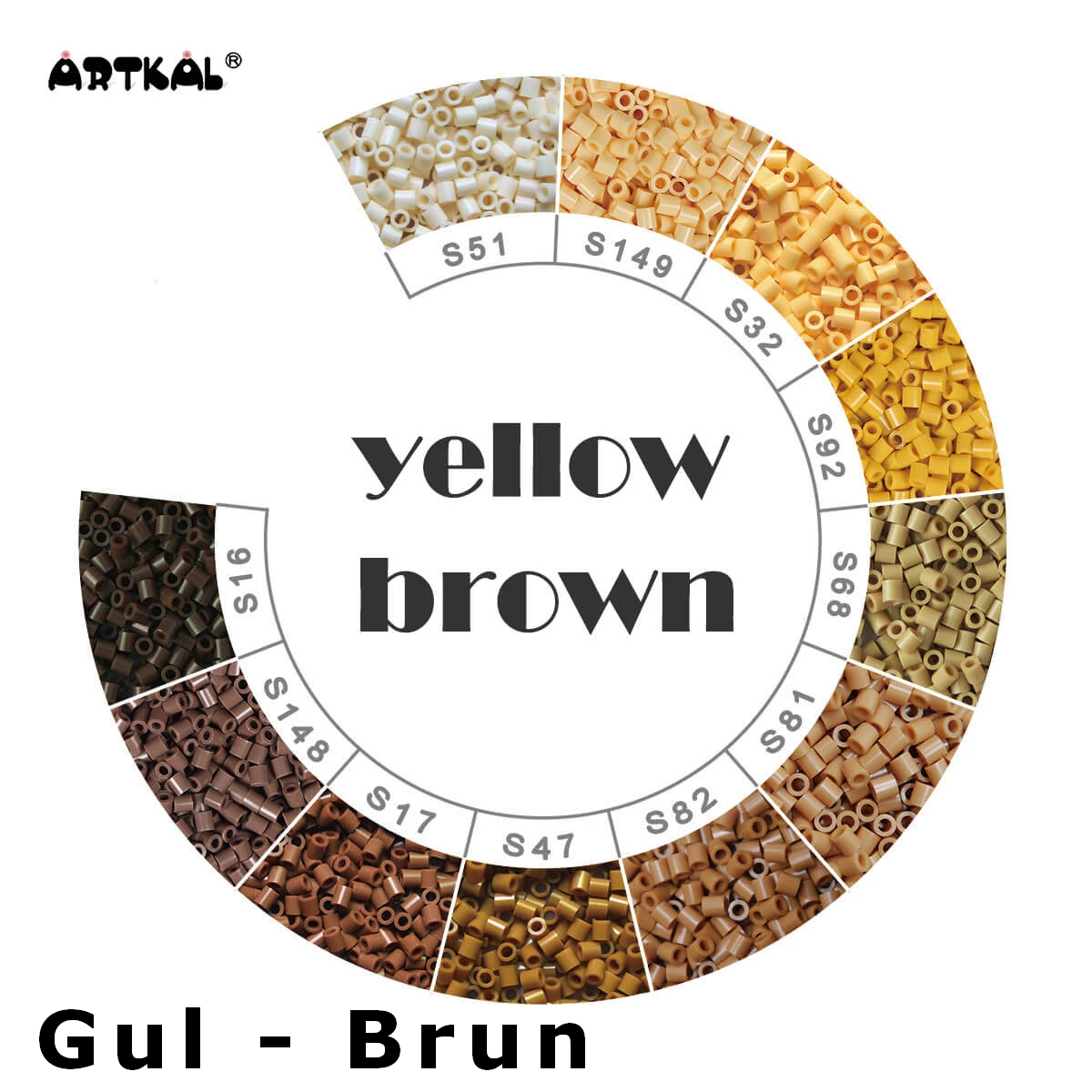 Artkal Midi-S Wheel Yellow - Brown
